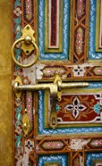 Fez, Morocco. Painted Wooden Door in the Old City