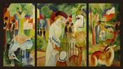 Large Zoological Garden (Triptych)