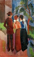 Promenade Of Three People II, 1914