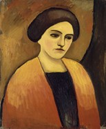 Head Of A Woman In Orange And Brown (Portrait Of The Artist'S Wife),  c.  1911