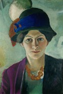 Elisabeth Macke With Hat, 1909