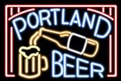 Portland Beer Fluorescent Sign