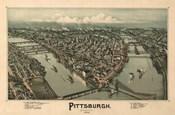 Pittsburgh Map, 1902