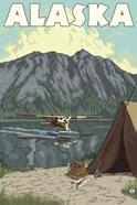 Alaska Plane Lake Campsite