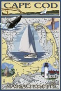 Cape Cod Massachusetts Sailboat Ad