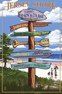 Jersey Shore Beach Signs