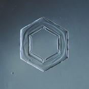 Hexagonal Plate Snowflake 003.2.2014
