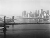 Brooklyn Bridge and Manhattan Bridge Aerial