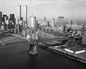 Manhattan Bridge with Twin Towers behind