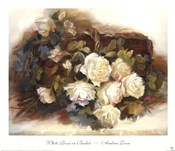 White Roses in Basket