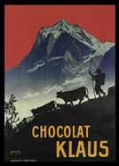 Chocolat Klaus Mountains Switzerland, 1910