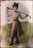 Vintage Lady Golfer