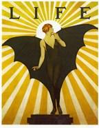Life Magazine Cover Bat Girl Yellow