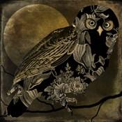 Sepia Moon Owl