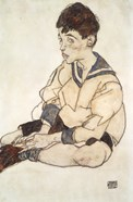 Portrait Of Paul Erdmann In A Sailor Suit