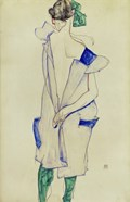 Standing Girl In Blue Dress And Green Stockings, 1913