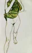 Striding Torso In Green Shirt, 1913
