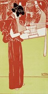 Musik (Stehende Lyraspielerin) - A Woman Playing The Lyre, 1901