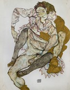 Seated Couple (Egon Und Edith Schiele), 1915