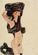 Kneeling Girl, Disrobing, 1910