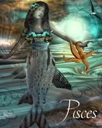 Art Nouveau Zodiac Pisces