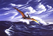 Pteranodon Soars Over Waves