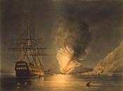 Explosion of the US Steam Frigate Missouri