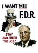 Uncle Sam and President Franklin Roosevelt