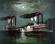 Steamboats Robert E Lee and Natchez