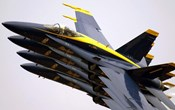 Four Blue Angels F/A-18C Hornets