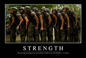 Strength: Inspirational Quote and Motivational Poster