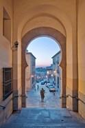 Gate to Zocodover Square (Plaza Zocodover), Toledo, Spain