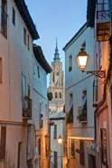 Alleyway and Toledo Cathedral Steeple, Toledo, Spain