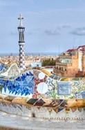 Spain, Catalonia, Barcelona, Park Guell Terrace