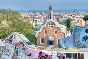Park Guell Terrace, Barcelona, Spain