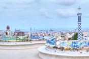 Park Guell Terrace, Barcelona, Spain