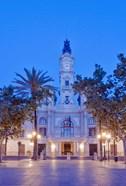 City Hall (Ayuntamiento) at Dawn, Valencia, Spain