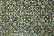 Moorish Mosaic Azulejos (ceramic tiles), Casa de Pilatos Palace, Sevilla, Spain