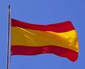 Spanish Flag, Barcelona, Spain