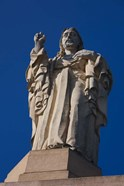 Christ Atop Castilla Santa Cruz de la Mota, San Sebastian, Spain
