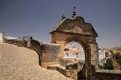 Spain, Andalusia, Malaga Province, Ronda Stone Archway