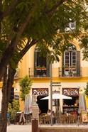 Outdoor Cafes, Plaza de la Merced, Malaga, Spain