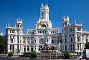 Cibeles Palace is located on the Plaza de Cibeles in Madrid, Spain