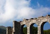Spain, Hondarribia, abbey ruins, Jaizkibel Road
