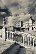 Spain, Seville, buildings of the Plaza Espana