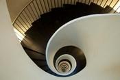 Spiral staircase, Silken Gran Hotel Domine, Bilbao, Spain