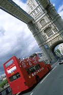 Tower Bridge with Double-Decker Bus, London, England
