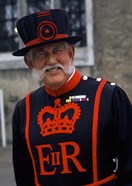 Beefeater in Costume at the Tower of London, London, England