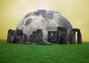 Full Moon over Stonehenge, England