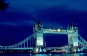 Tower Bridge Spanning the River Thames in London, England